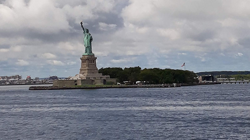 The Statue of Liberty viewed from the Staten Island Ferry
