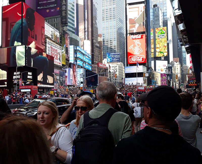 The crowd in Times Square